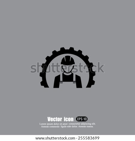 worker vector icon - stock vector