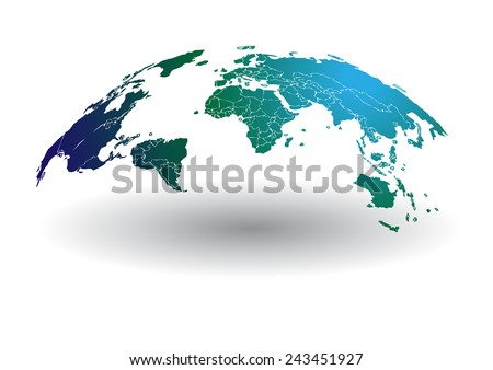 World map vector drawing lines background vector de stock243451927 world map vector drawing lines for background and textall elements are separated in editable gumiabroncs Image collections