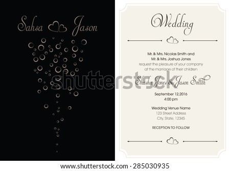 Wedding engagement shower invitation templates vector stock vector 5x7 wedding invitation template in vector format stopboris Image collections