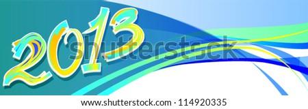 2013 year - stock vector