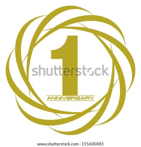 1 year anniversary creative concept vector - stock vector