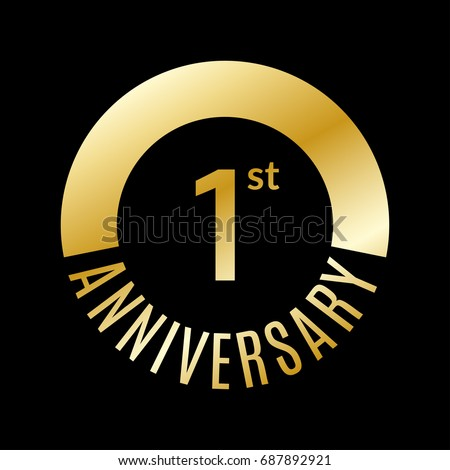 1 year anniversary icon 1st celebration stock vector 687892921 1 year anniversary icon 1st celebration template for banner invitation birthday vector stopboris Image collections