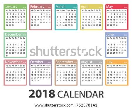 printable year calendar