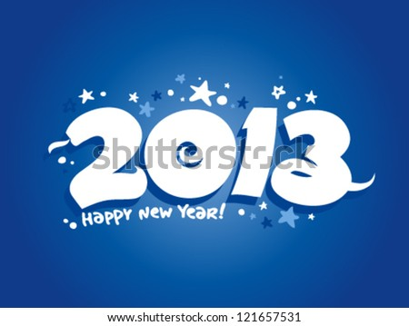 2013 year design template with snake. - stock vector
