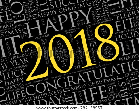 2018 year greeting word cloud collage stock vector 782138557 2018 year greeting word cloud collage happy new year celebration greeting card m4hsunfo Image collections