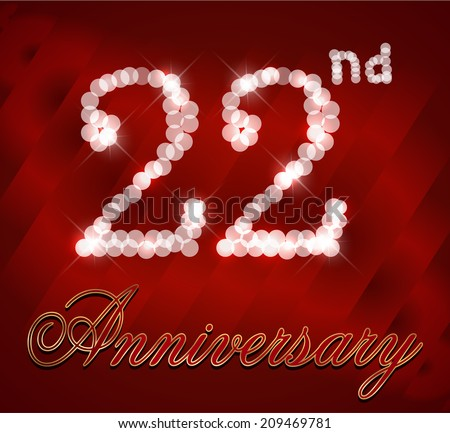 Wedding Anniversary Gift Ideas 22 Years : 22 anniversary Stock Photos, Images, & Pictures Shutterstock