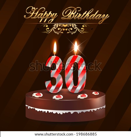 Th Birthday Stock Images RoyaltyFree Images  Vectors - 30 year old birthday cake