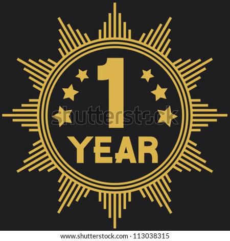 Stock vector year symbol one year anniversary year jubilee 113038315