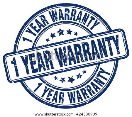 1 year warranty blue grunge round vintage rubber stamp.1 year warranty stamp.1 year warranty round stamp.1 year warranty grunge stamp.1 year warranty.1 year warranty vintage stamp. - stock vector