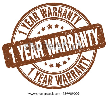 1 year warranty brown grunge round vintage rubber stamp.1 year warranty stamp.1 year warranty round stamp.1 year warranty grunge stamp.1 year warranty.1 year warranty vintage stamp. - stock vector