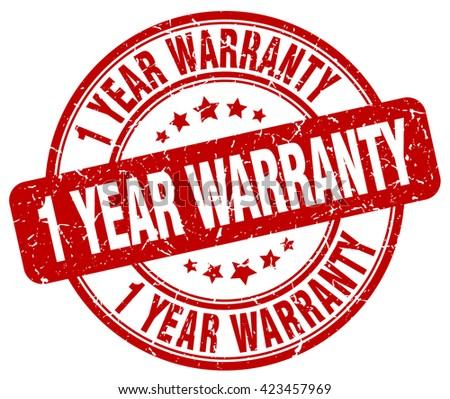 1 year warranty red grunge round vintage rubber stamp.1 year warranty stamp.1 year warranty round stamp.1 year warranty grunge stamp.1 year warranty.1 year warranty vintage stamp. - stock vector