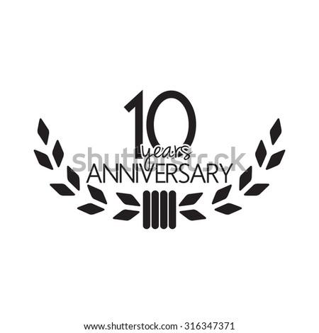 10 years anniversary - stock vector