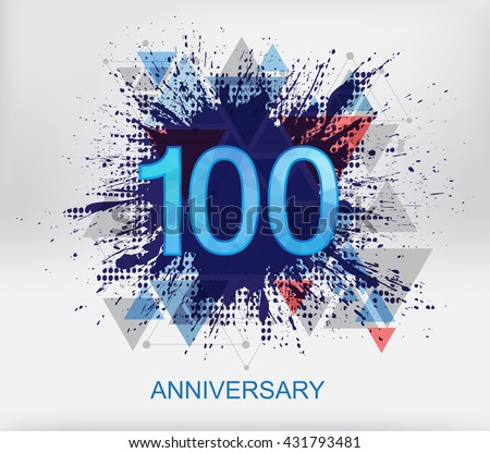 100 Year Anniversary Stock Images Royalty Free Images Vectors