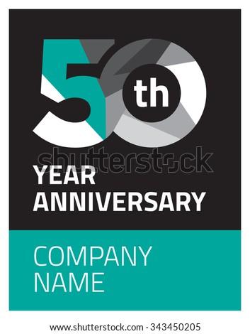 50 years Anniversary black background - stock vector