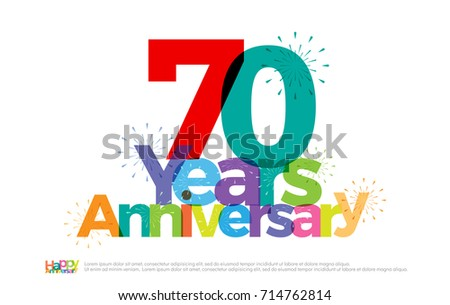Years anniversary celebration colorful logo stock vector