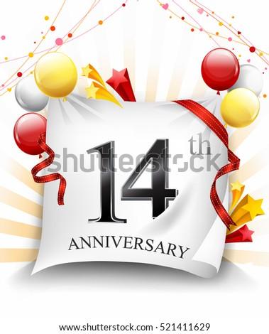 12 Years Anniversary Celebration Design On Stock Vector ...