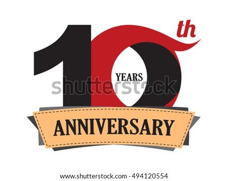 Years anniversary celebration logo design stock vector