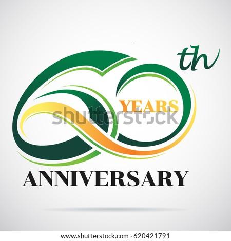 60 years anniversary celebration logo design stock vector royalty rh shutterstock com happy birthday logos free download