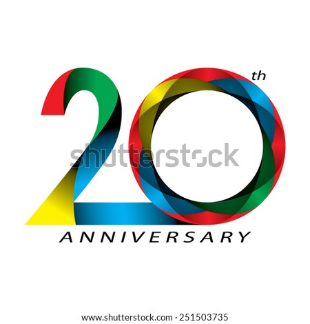 20 years Anniversary, concept vector - stock vector