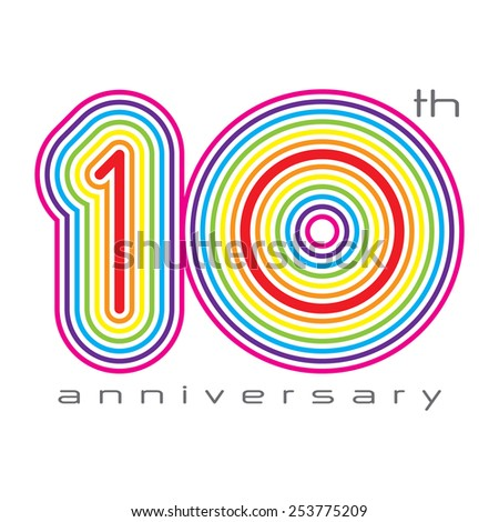 10 years anniversary, concept vector illustration - stock vector