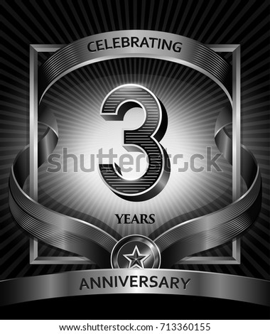 3 years anniversary design template invitation stock vector 3 years anniversary design template for invitation advertising banner vector design stopboris Image collections
