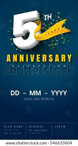 5 year anniversary invitations