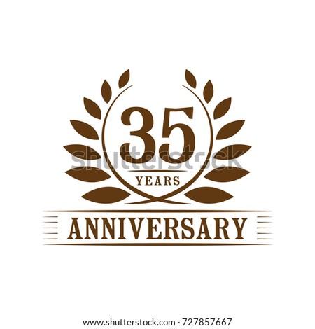 35 Years Anniversary Logo Template Stock Vector 727857667 Shutterstock