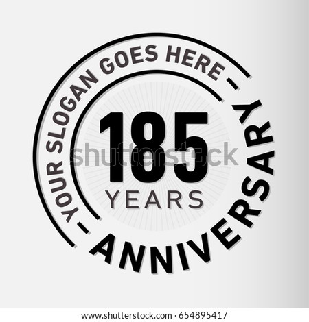 185 years anniversary logo template vector stock vector 654895417