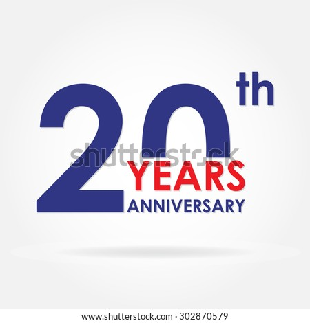 20 years stock images royalty free images vectors shutterstock 20 years anniversary sign or emblem template for celebration and congratulation design colorful vector pronofoot35fo Image collections