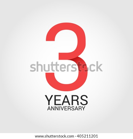 3 years anniversary signs symbols simple stock vector royalty free