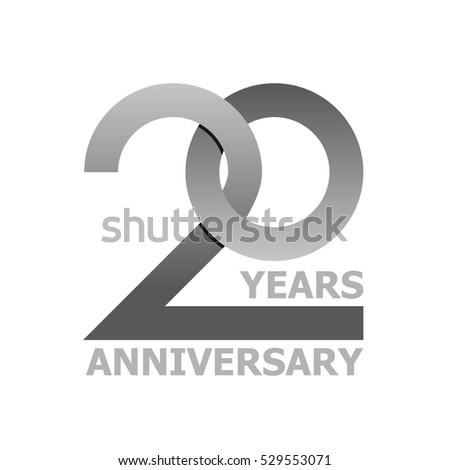 20 Years Anniversary Symbol Vector Stock Vector Royalty Free