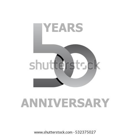 50 Years Anniversary Symbol Vector Stock Vector Hd Royalty Free