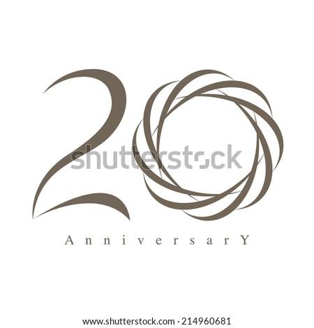 20 years anniversary vector - stock vector