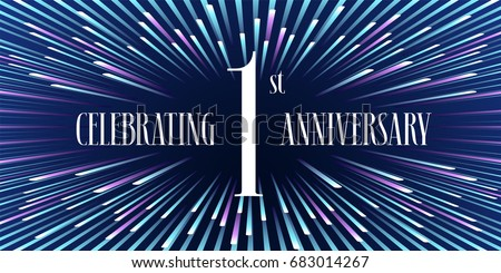 1 years anniversary vector icon banner stock vector 683014267