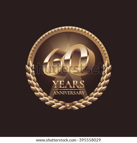 60th stock photos images pictures shutterstock - Th anniversary symbol ...
