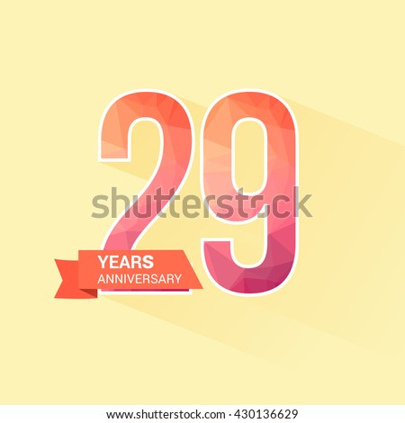29 Years Anniversary with Low Poly Design