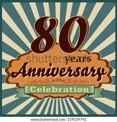 Celebrating 80 Years Anniversary Golden Sheild Stock ...