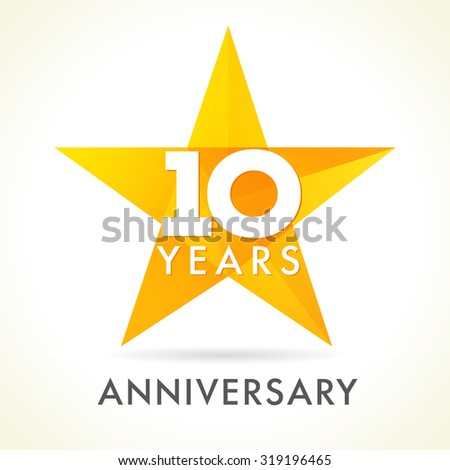 10th birthday stock images royalty free images vectors shutterstock - Color of th anniversary ...