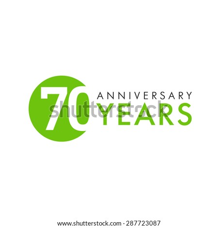 70 years old round logo anniversary stock vector 287723087 70 years old round logo anniversary year of 70 th vector banner numbers birthday m4hsunfo