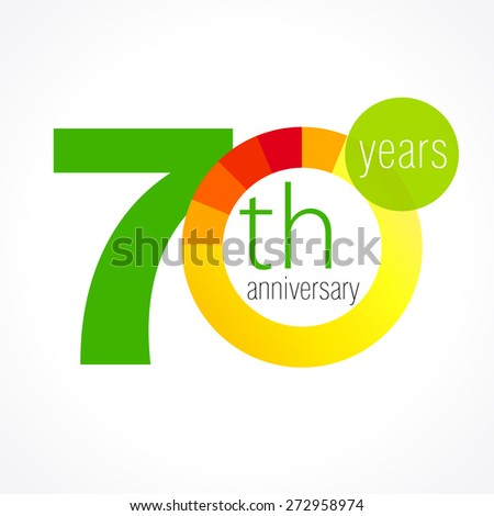 70 years old round logo anniversary stock vector 2018 272958974 70 years old round logo anniversary year of 70 th vector chart template medal m4hsunfo