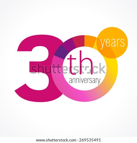 30 years round logo anniversary year stock vector royalty free 30 years round logo anniversary year of 30 th vector chart template medal birthday m4hsunfo