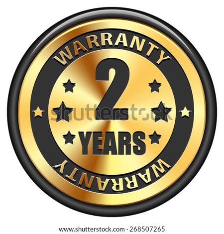 2 years warranty - stock vector