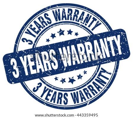 3 years warranty blue grunge round vintage rubber stamp.3 years warranty stamp.3 years warranty round stamp.3 years warranty grunge stamp.3 years warranty.3 years warranty vintage stamp. - stock vector