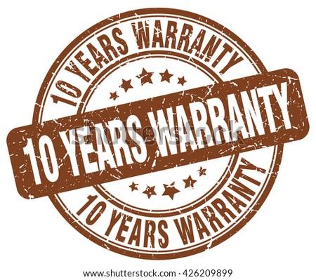 10 years warranty brown grunge round vintage rubber stamp.10 years warranty stamp.10 years warranty round stamp.10 years warranty grunge stamp.10 years warranty.10 years warranty vintage stamp. - stock vector