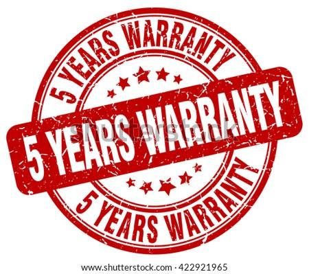 5 years warranty red grunge round vintage rubber stamp.5 years warranty stamp.5 years warranty round stamp.5 years warranty grunge stamp.5 years warranty.5 years warranty vintage stamp. - stock vector