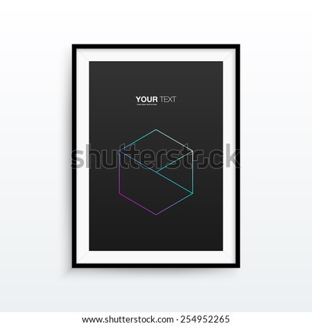 A4 / A3 format frame design with text, minimal abstract pattern eps 10 vector illustration - stock vector