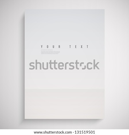 A4 / A3 Format paper design vector with text and shadow - stock vector