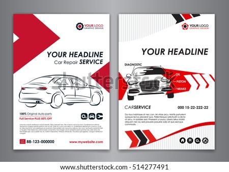 A 5 A 4 Service Car Business Layout Stock-Vektorgrafik (Lizenzfrei ...