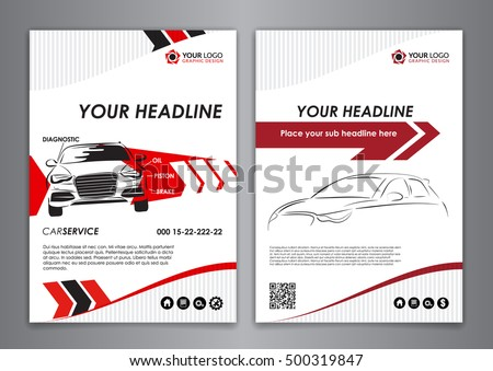 A5 a4 set service car business stock vector hd royalty free a5 a4 set service car business card templates car repair business catalogue cover layout cheaphphosting Image collections