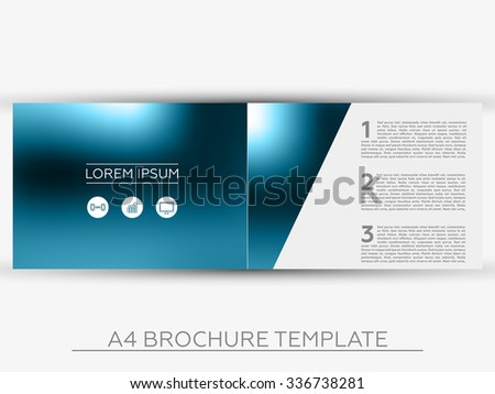 A4 Abstract Business Brochure Template - Vector Design - stock vector